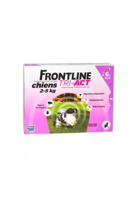 FRONTLINE TRI - ACT XS CHIENS  2-5 Kg 6 PIPETTES