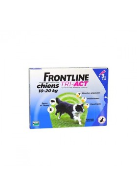 FRONTLINE TRI - ACT M CHIENS 10-20 Kg 3 PIPETTES