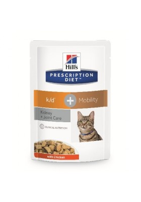 Hill's Prescription Diet Feline k/d + Mobility 12 sachets de 85G