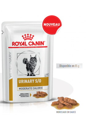 VHN Veterinary Health Nutrition Chat URINARY S/O MODERATE Morceaux en sauce 12X85G