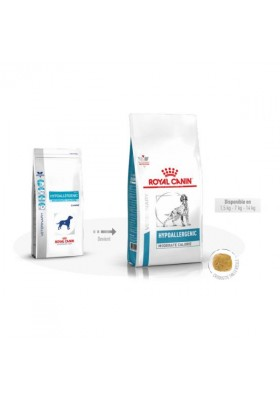 Veterinary Health Nutrition Chien Hypoallergenic Moderate calorie 1.5Kg