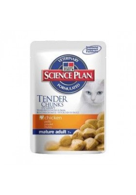 Hill's Science Plan Feline Mature Adult Poulet Sachets 12X85 GR