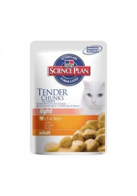 Hill's Science Plan Feline Adult Light Poulet Sachets 12X85 GR