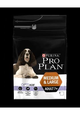 Purina Pro Plan Chien Adult 7+ Medium et Large optiage 14KG