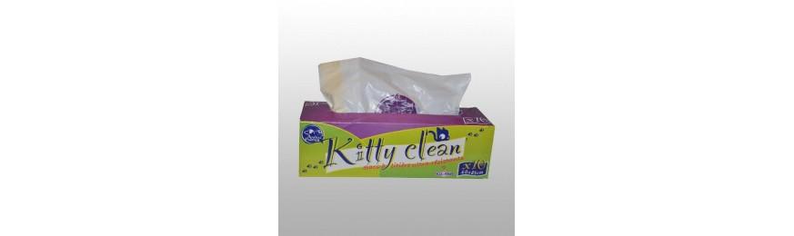 Litières, sacs à litières et accessoires de nettoyage